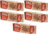 5x DAS boetseerklei terracotta 500 gram - Model/modelleer hobby klei