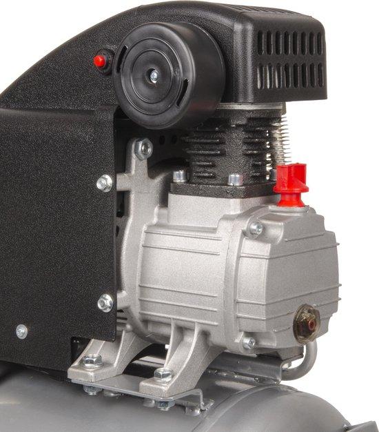 FERM Compressor – 1100W – 24 Liter – Max. 8 bar – Incl. Universele snelkoppeling & 2 Manometers