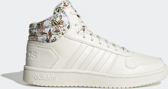 adidas Hoops 2.0 Mid Dames Sneakers - Cloud White/Cloud White/Ftwr White -  Maat 36