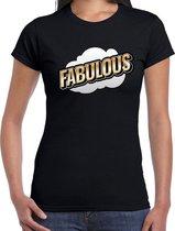 Fout Fabulous t-shirt in 3D effect zwart voor dames - fout fun tekst shirt / outfit - popart M