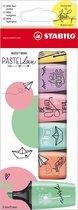 STABILO BOSS MINI - Markeerstift - Pastellove Edition - Etui Met 6 Kleuren