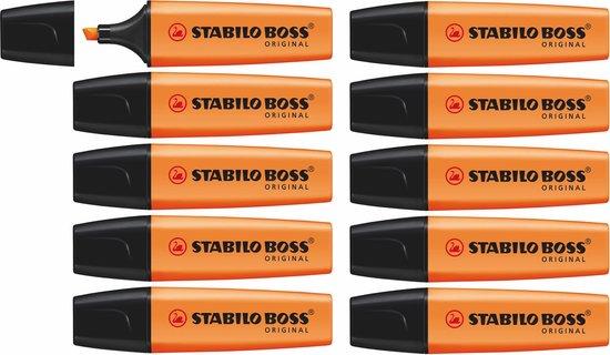 STABILO BOSS ORIGINAL Markeerstift Oranje - doos à 10 stuks