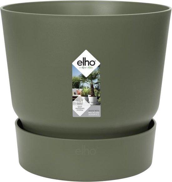 Elho Greenville Rond 30 - Bloempot - Blad Groen - Buiten - Ø 29.5 x H 27.8 cm