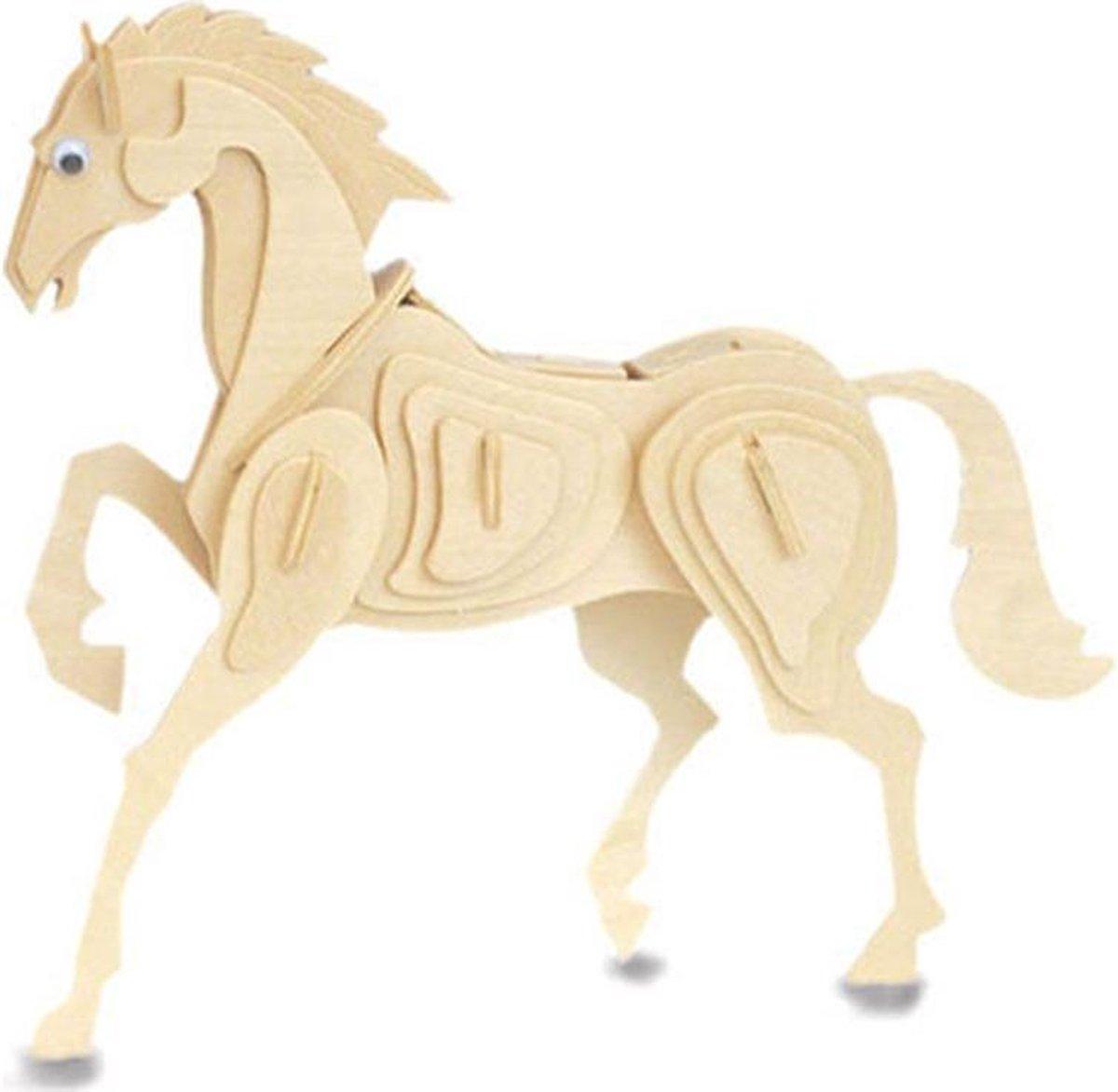 Bouwpakket 3D Puzzel Paard - hout