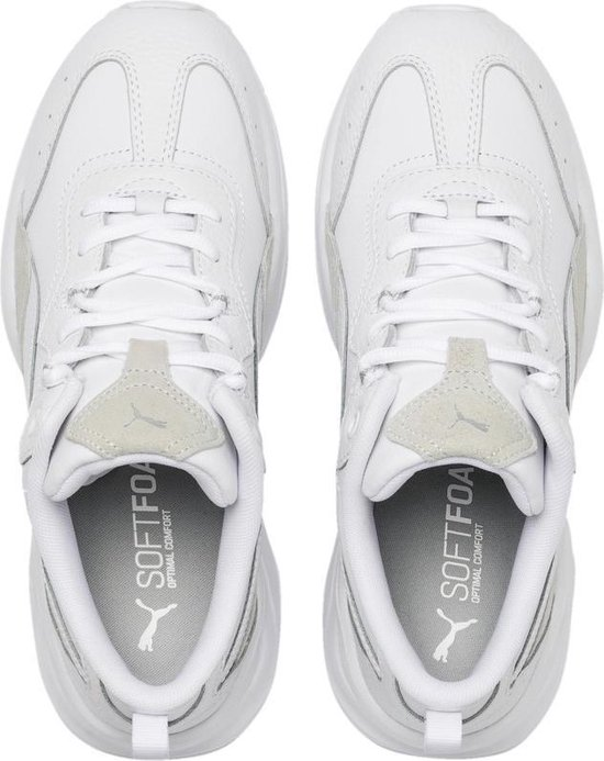 PUMA Cilia Lux Dames Sneakers - Puma White-Puma White-Puma Silver - Maat 41