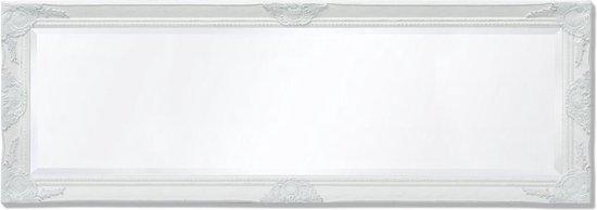 vidaXL Wandspiegel Barok 140 x 50 cm wit