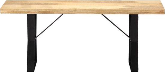vidaXL Bankje 110 cm massief mangohout