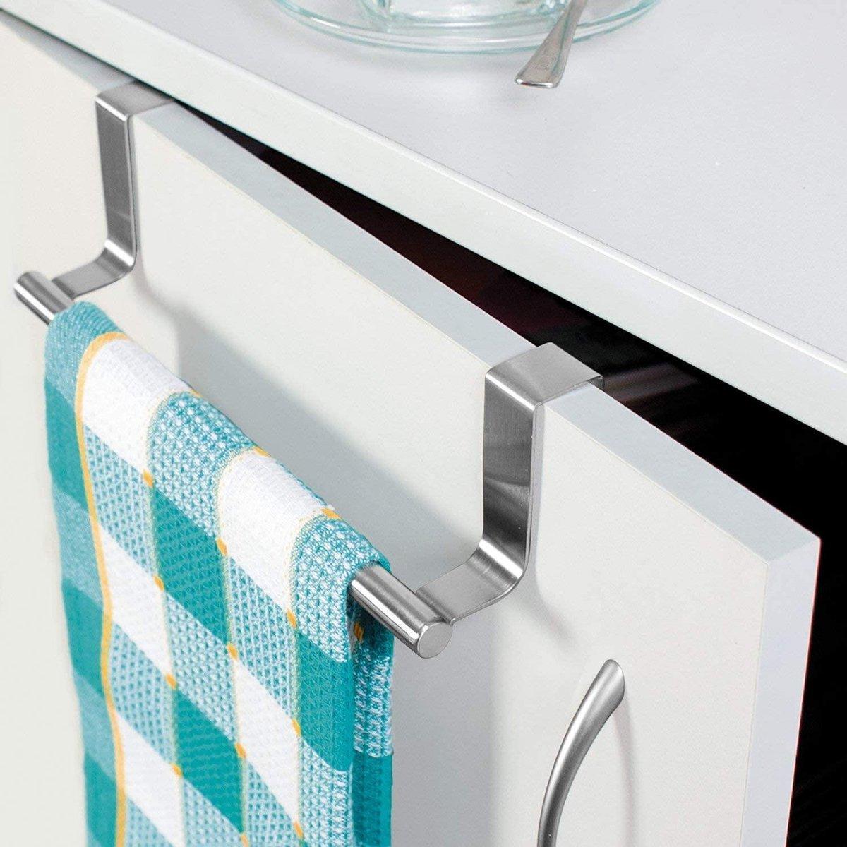 Handdoekhouder | Roestvrij Staal | 24x8 cm | Ophangbaar | Antislip | Krasbescherming
