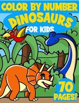 Dinosaurs Color By Numbers for Kids