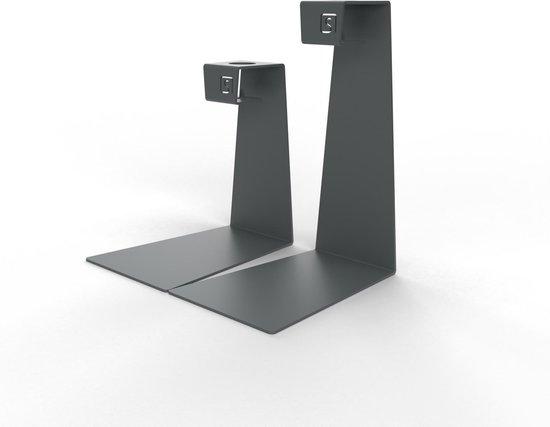 Mono – Kandelaar set – Kaarsenhouder – Metaal – Grijs