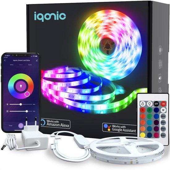 iqonic® Smart WiFi LED-strip - 5m - Incl. app - RGB - Afstandsbediening