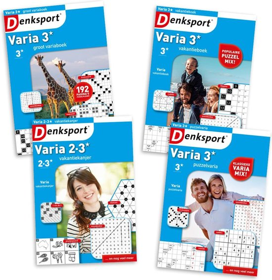 Afbeelding van Denksport puzzelboek Variapakket