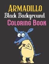 Armadillo black background Coloring Book