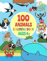 100 animals coloring book for kids ages 4-8 A to Z