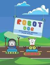 Robot dog coloring book for kidz