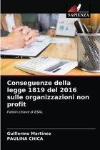 Conseguenze della legge 1819 del 2016 sulle organizzazioni non profit