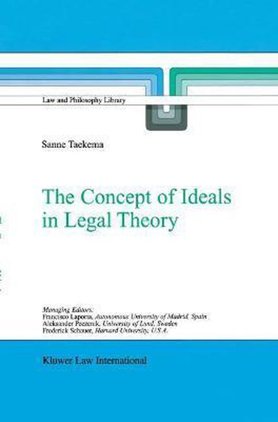 Boek cover The Concept of Ideals in Legal Theory van Sanne Taekema (Hardcover)