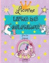 Livre de coloriage de licornes pour les enfants de 4 a 8 ans