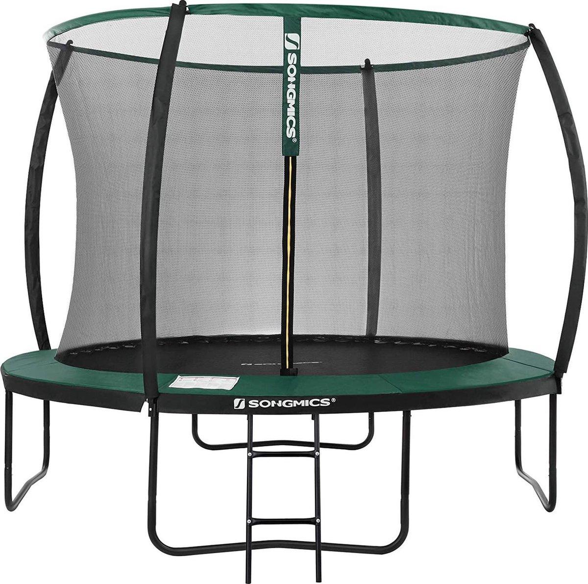 Trampoline met Veiligheidsnet - Ø 305 cm - met Ladder - Buiten - Veilig - Groen