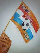 Vlag Hup Holland Hup - Oranje - EK - Rood -Wit - Blauw - Zwaaivlaggetje - Vlag - 25.5 x 17.5 cm -25 stuks