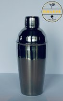 Cocktailshaker van Daleys Bars - 5 delig - 550 ML - Inclusief Nederlandstalig receptenboekje - Robuuste horecakwaliteit - Professionele cocktailshaker RVS (304 Stainless steel) | GRATIS COCKTAILMAATJE