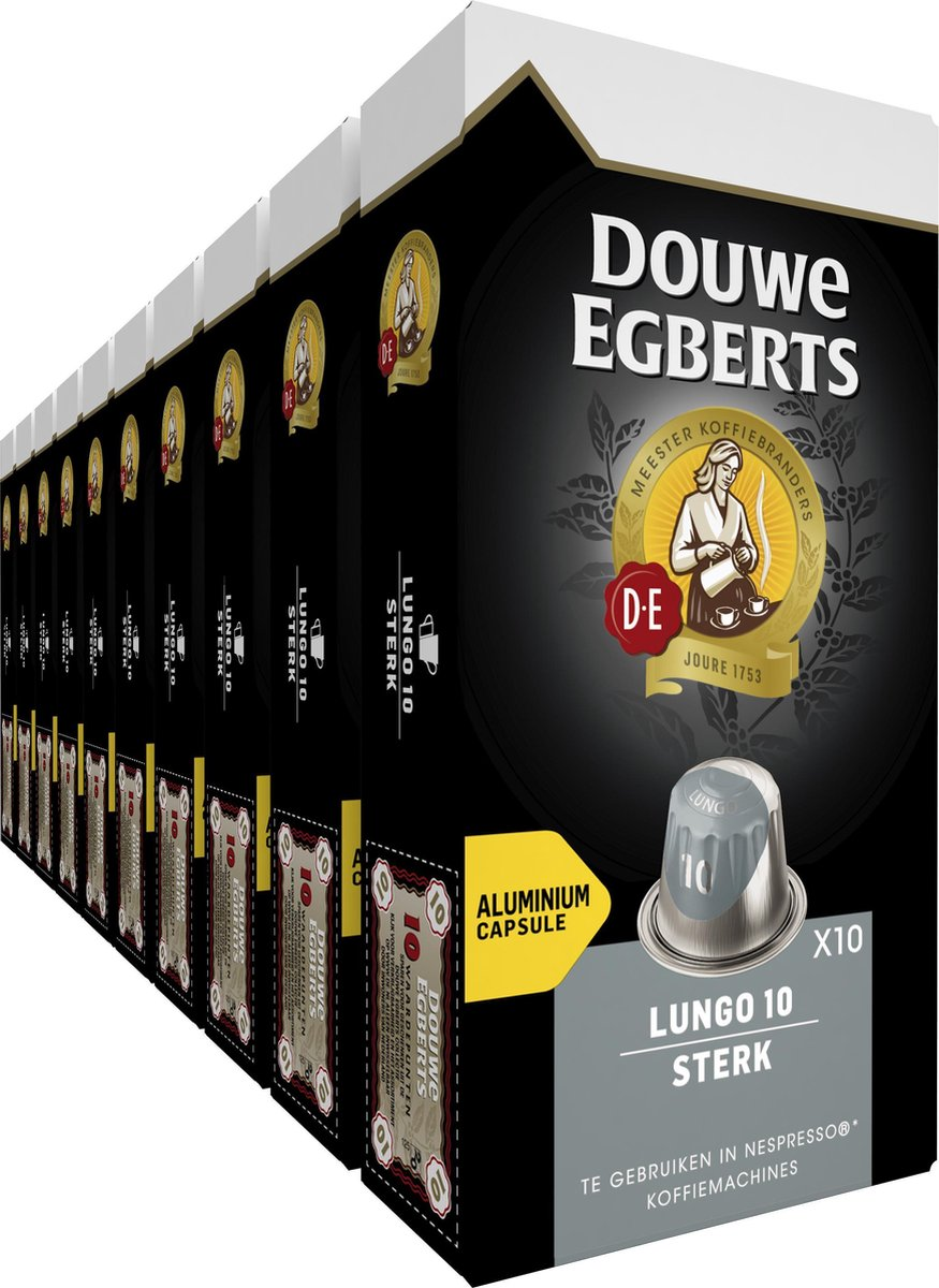 Douwe Egberts Lungo Extra Intens Koffiecups - 10 x 10 cups - 100 koffiecups