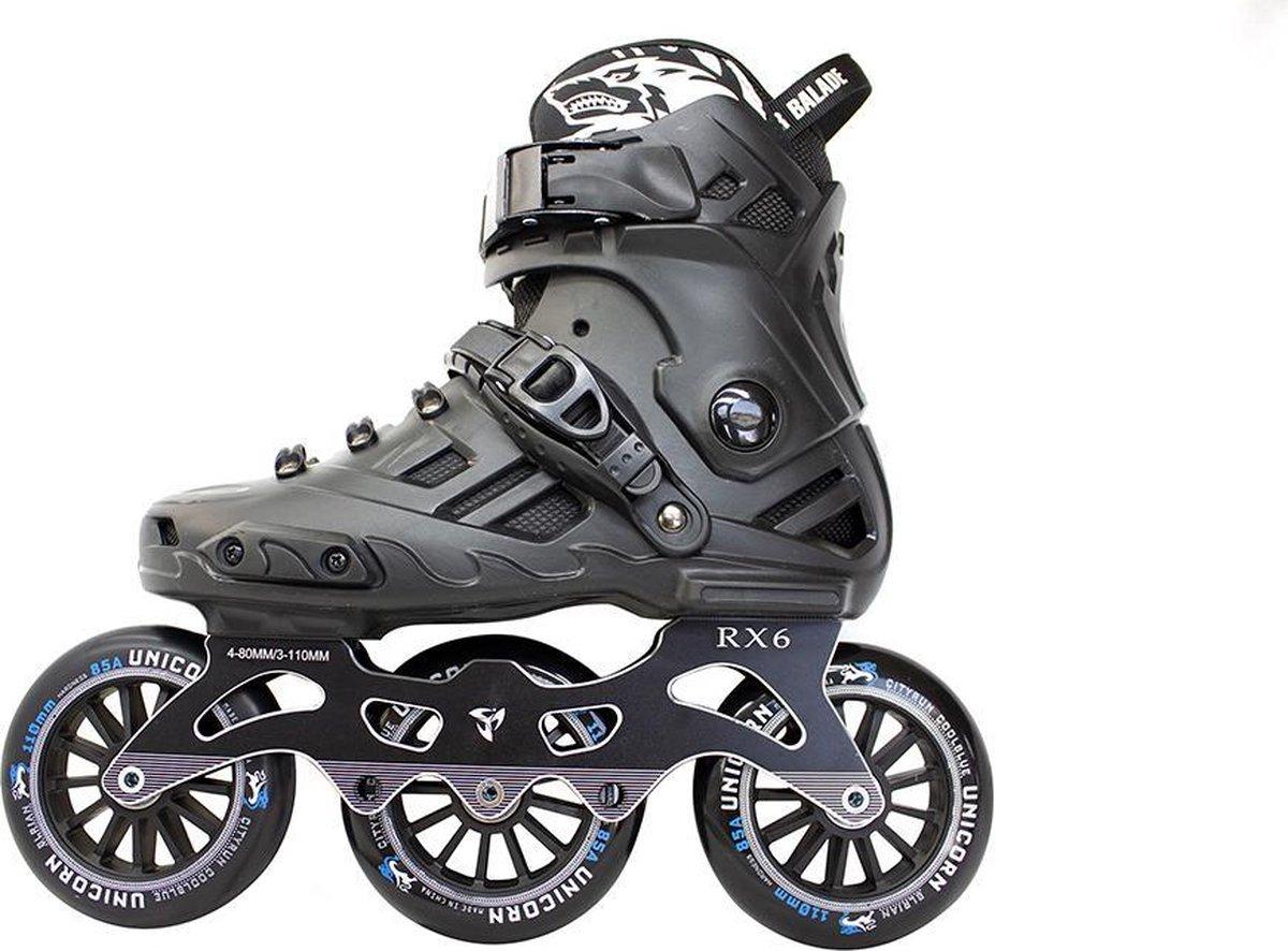 Colourblade Inline Skate - RX6 Fitness Skate - Maat 42 - Unisex - Zwart