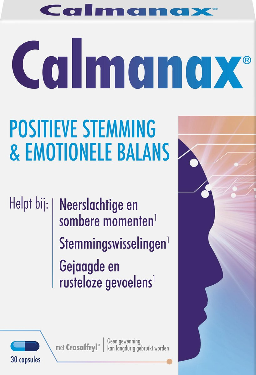 Calmanax Positieve stemming & Emotioneel balans - 30 capsules - Voedingssupplement