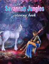 Savannah Jungles: Coloring book