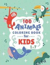 100 Animals Coloring Book For Kids 1-7