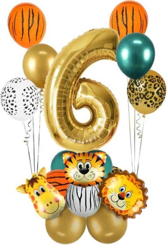 Dieren ballon - 6 jaar - Kinderfeestje - Zes jaar - Verjaardagfeest - Ballonnen pakket - Kinderfeestje pakket - Dieren ballonnen pakket - Jungle