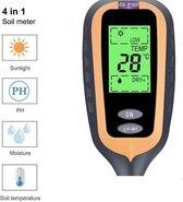 PH meter 4 in 1 - Grondmeter - Temperatuurmeter - Lichtmeter - Vochtmeter - Zuurtegraad - Planten - Tuin - Digitaal - Buitenthermometer - PH meter