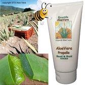 Aloe Vera Propolis Creme 180 ml - Sublieme Huidverzorging - pure aloë plus propolis plus kruidenextracten. Bijzonder effectief. Voor alle huidproblemen. Extreem droge huid, doorliggen, beschadiging en bescherming.