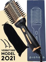 Pionora 4-in-1 Föhnborstel met Opbergtas en Haarclips – Krulborstel, Stijlborstel & Volumeborstel – Haardroger met borstel – Multistyler – Warmeluchtborstel