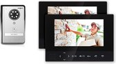Doorsafe 4501 - Draadloze camera video deurbel - 2 x 7 inch scherm - deurbel werkt op 12V of batterijen