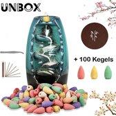 UNBOX - Wierook Waterval - Wierook Houder -  Incl. 100 Kegels, Wierook Stokjes, Onderzetter & Pincet