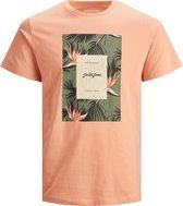 Jack & Jones Florall Print T-shirt - Jongens - oranje/groen