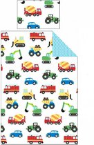 Trekkers, Auto's en Trucks Eenpersoons Dekbedovertrek vrachtwagens