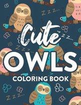 Cute Owls Coloring Book