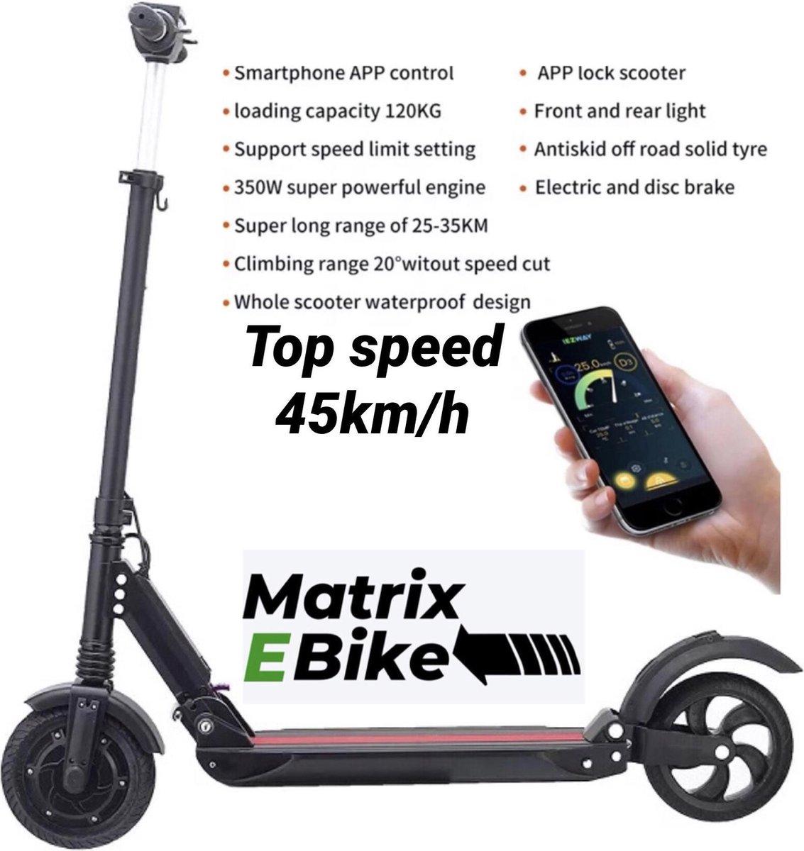 Kugoo S1 - Zwart - Opvouwbaar - E-Step - met km/h teller - stuur in hoogte verstelbaar - elektrische