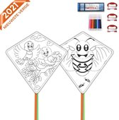 Nince vliegers voor kinderen complete set van 2 - Set 2 - Vliegers voor kinderen - Wit