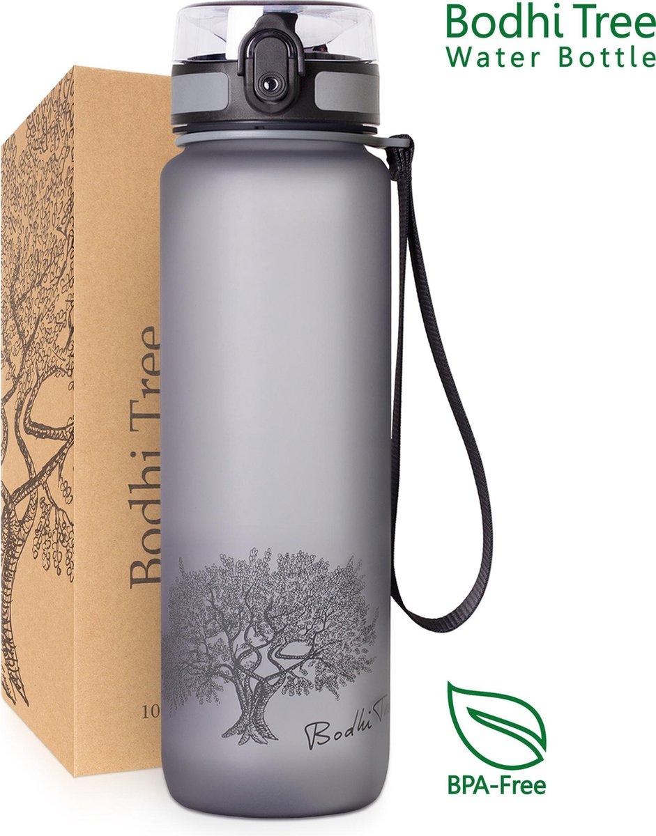 Bodhi Tree Waterfles  - 1 liter - Fruitfilter - Grijs