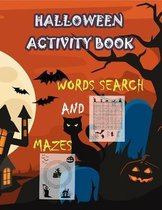 Halloween Activity Book Words Search and Mazes