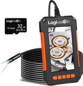 Logivision Inspectiecamera met Scherm 10M - Full HD 1080P - 4.3 Inch IPS Scherm - Endoscoop - Neem Foto's & Video's - IP67 Waterdicht - Inspectie Camera