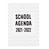 Plan & Huiswerk Agenda - Planagenda | Schoolagenda 2021-2022 - Hardcover - Wit - 7d/2p
