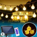 J-Pro FULL OPTION Tuinverlichting op Zonne-Energie - 60 LED Cristal 11m - Lichtsnoer - Lichtslinger