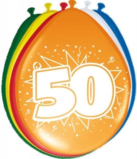 Ballonnen ster 50 jaar -30 cm - 8 stuks