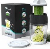 Spirelli Spiraalsnijder - Spiralizer voor Groenten – Courgette Snijder XL -Zwart/Wit