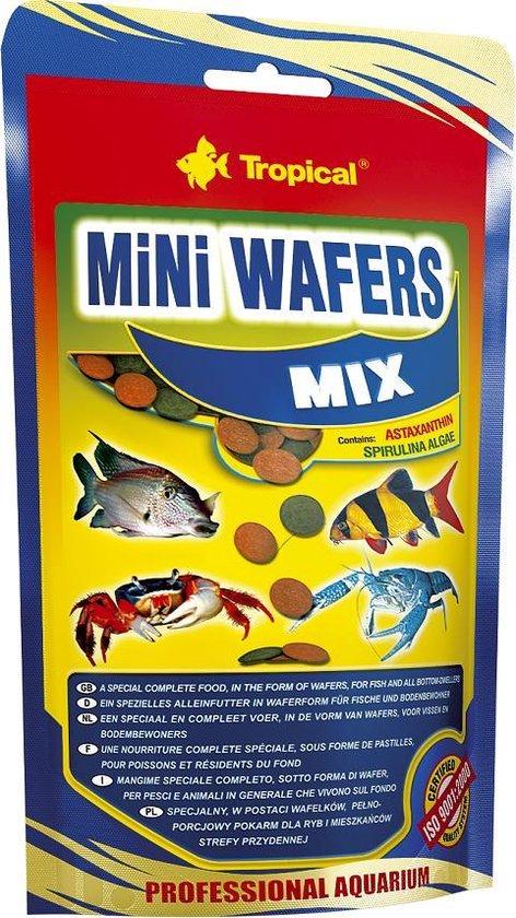 Tropical Mini Wafels Mix | 500 gram | Aquarium Visvoer
