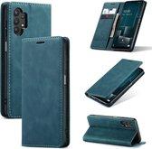 Samsung Galaxy A32 4G hoesje - Just in Case Vintage Wallet Case - Blauw